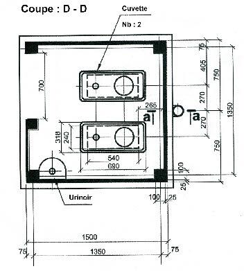 Exemple de plan de toilettes seches for Exemple de plan de coupe